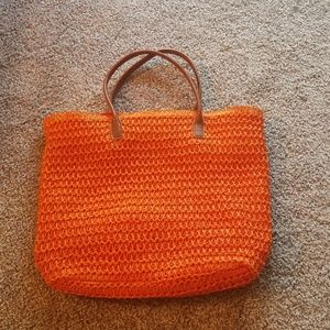 Orange H&M beach bag